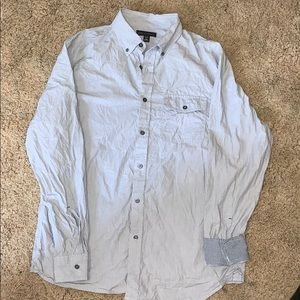 Banana republic button size large